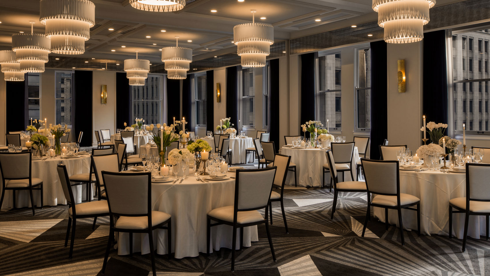 Gray Wedding Ballroom
