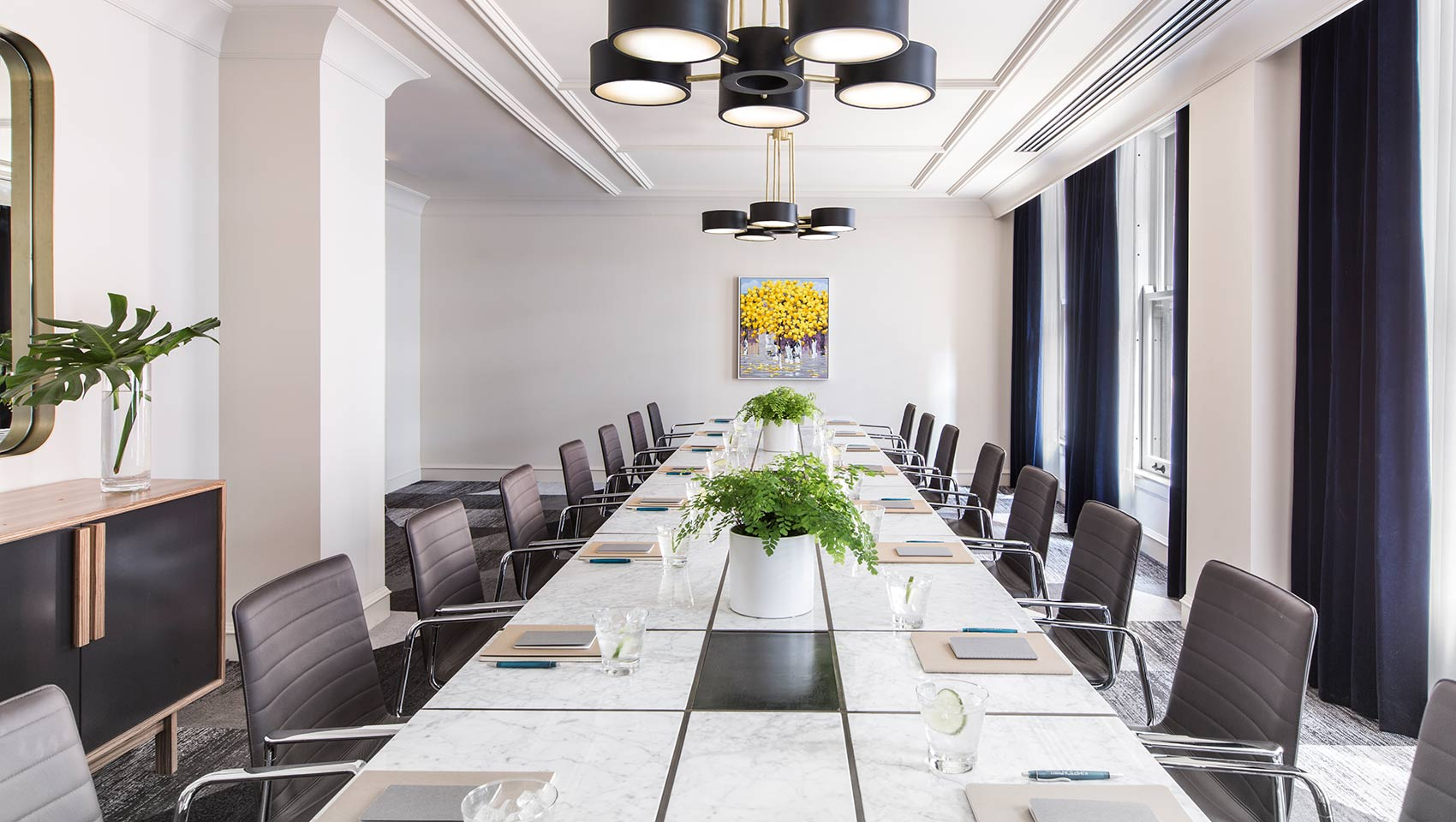 Event Space Chicago Kimpton Gray Hotel - Gray conference table