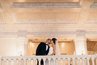 newlyweds, grandstaircase