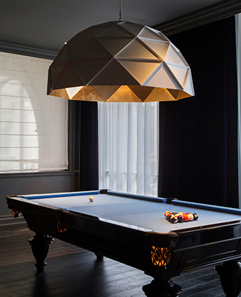 Kimpton Gray Hotel billiard table